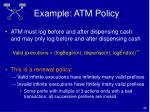 example atm policy34