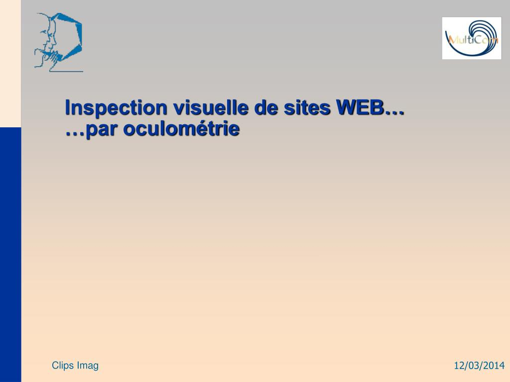Inspection visuelle de sites WEB…