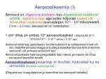 aerosoolikeemia i