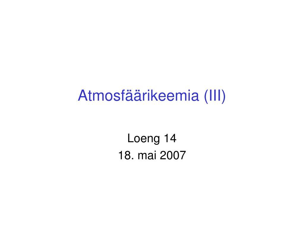 atmosf rikeemia iii l.