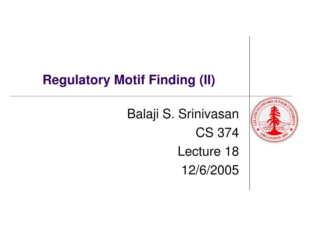 regulatory motif finding ii l.