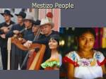 mestizo people