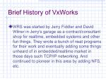 brief history of vxworks