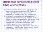 differences between traditional unix and vxworks23