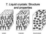7 liquid crystals structure and properties92