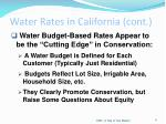 water rates in california cont5