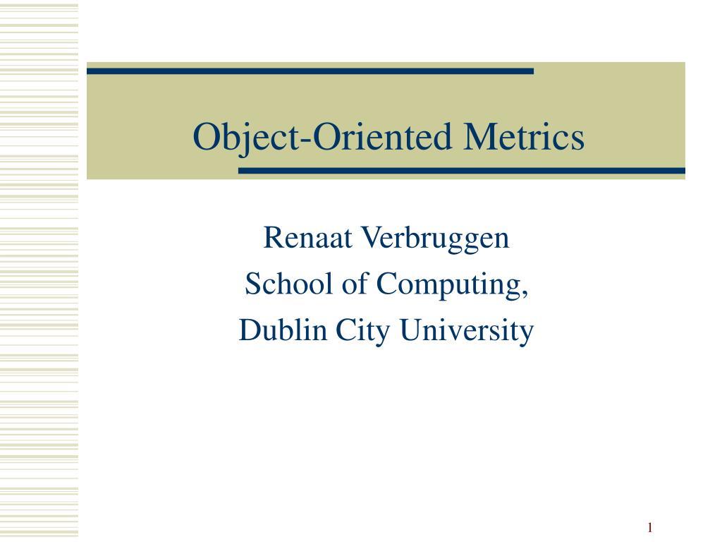 object oriented metrics l.