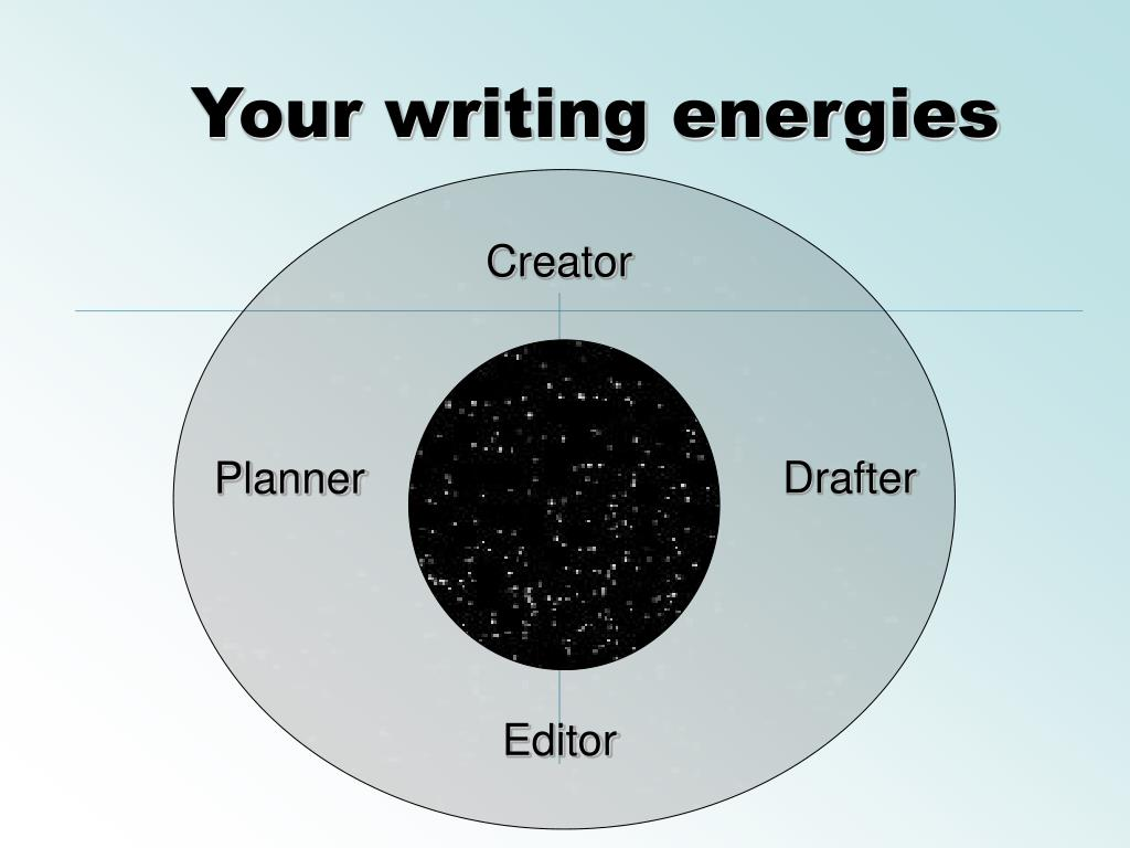 Your writing energies