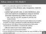 airbus views on vdl mode 4