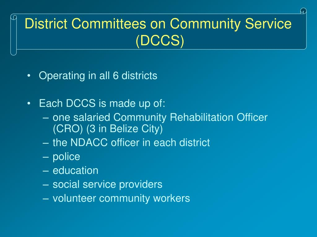 District Committees on Community Service