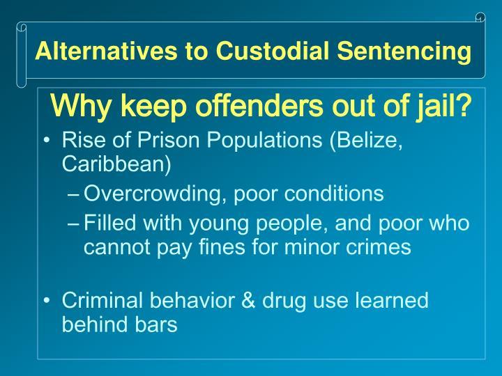 Alternatives to Custodial Sentencing