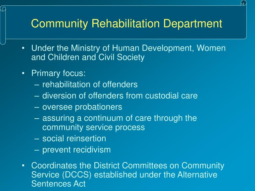 Community Rehabilitation Department