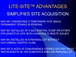 lite site advantages6