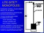 lite site monopoles