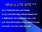 what is lite site