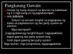 pangkatang gawain