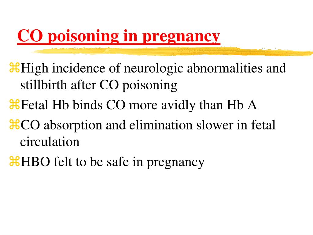 CO poisoning in pregnancy