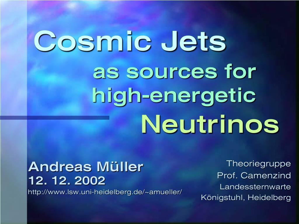 cosmic jets l.