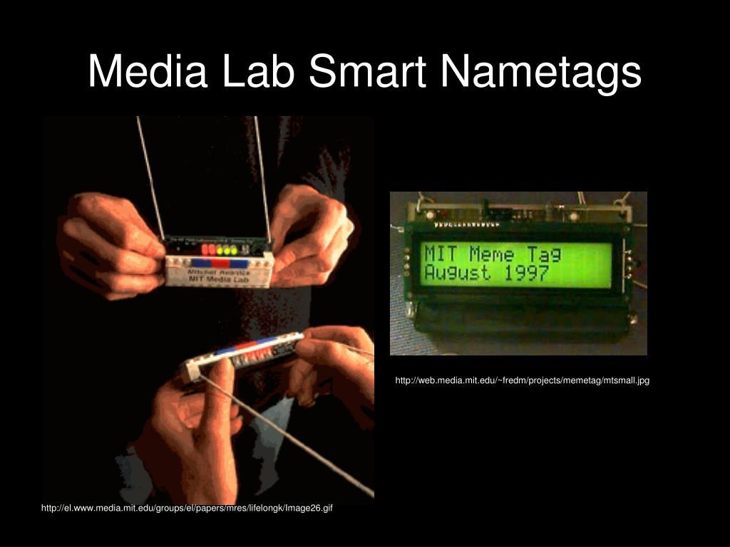 Media Lab Smart Nametags