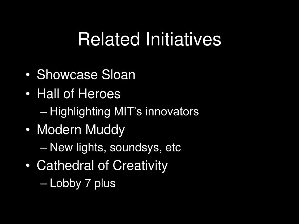 Related Initiatives