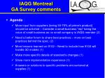 iaqg montreal ga survey comments