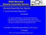 iaqg montreal general assembly survey