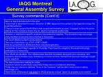iaqg montreal general assembly survey20