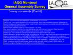iaqg montreal general assembly survey21
