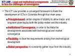 ict law legal and institutional arrangements to face the challenges of convergence