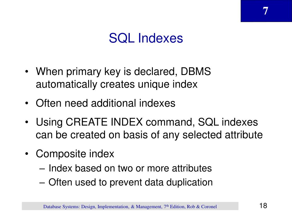 SQL Indexes