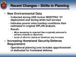 recent changes shifts in planning