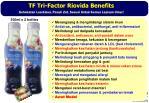 tf tri factor riovida benefits kehebatan luarbiasa penuh zat sesuai untuk semua lapisan umur