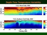 depth time temperature variability
