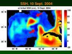 ssh 10 sept 2004