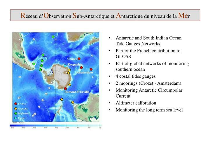 R seau d o bservation s ub antarctique et a ntarctique du niveau de la me r