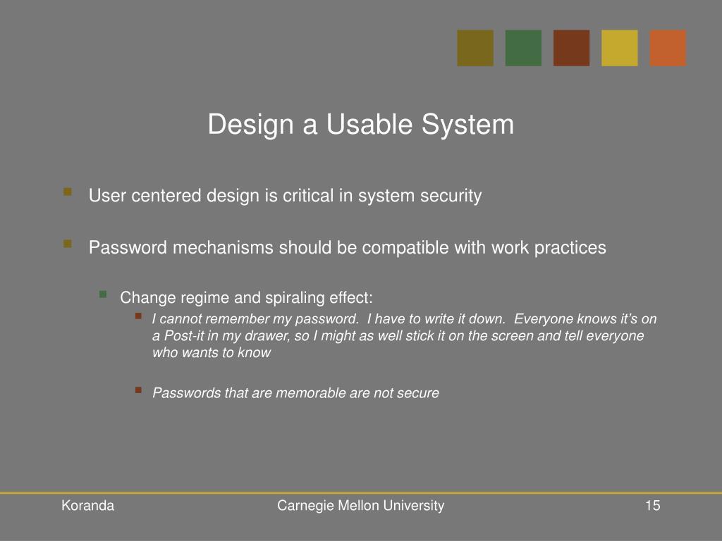Design a Usable System