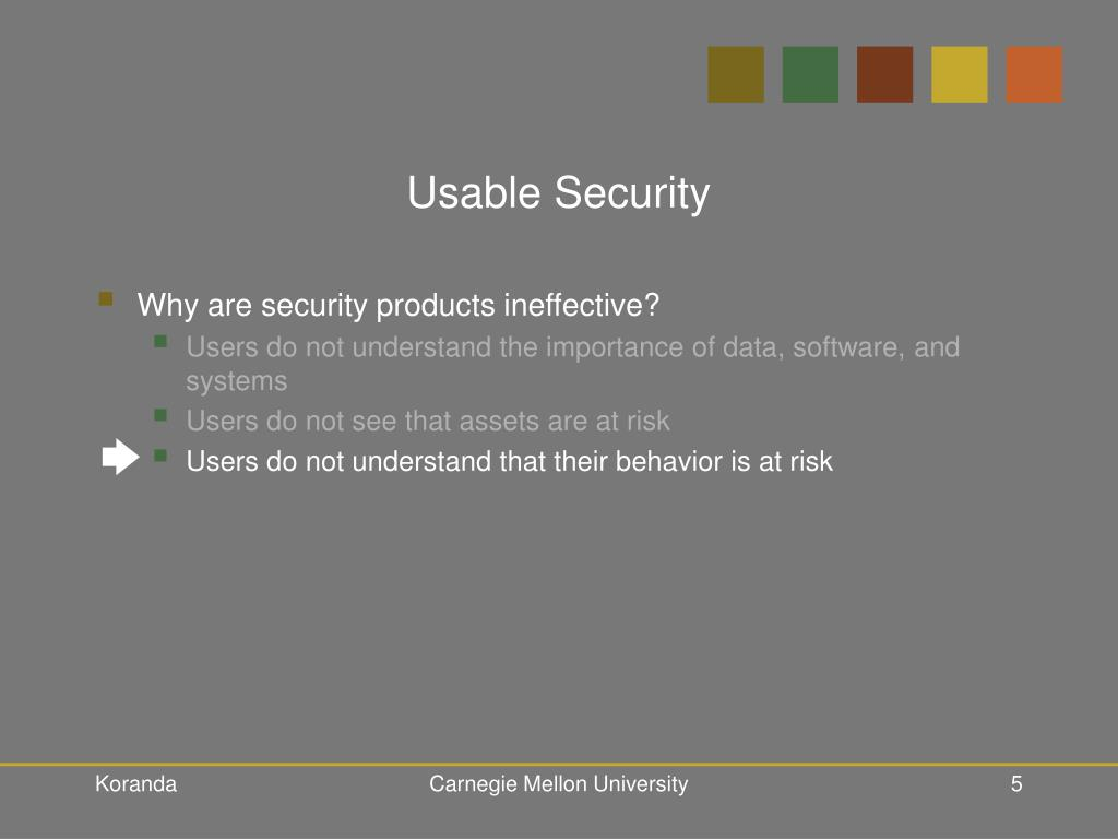 Usable Security