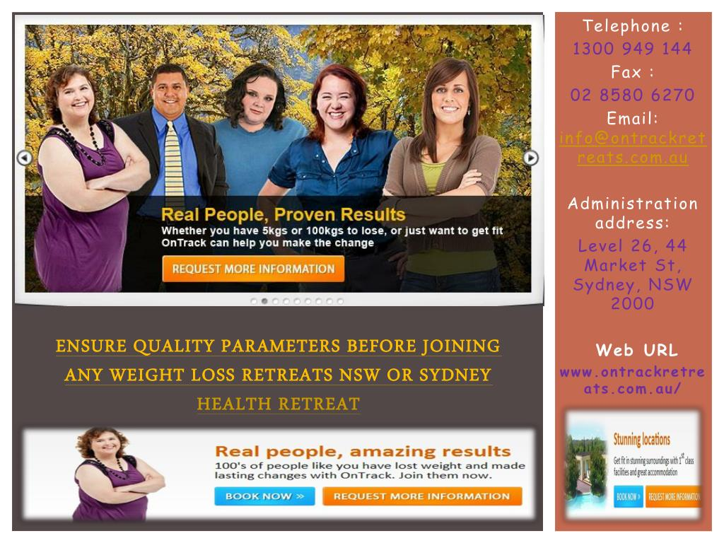 Ensure quality parameters before joining any Weight Loss Retreats NSW or Sydney
