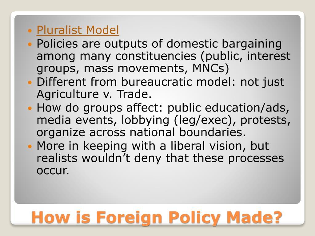 Pluralist Model