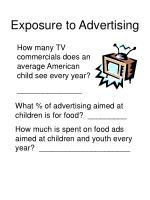 exposure to advertising