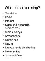 where is advertising