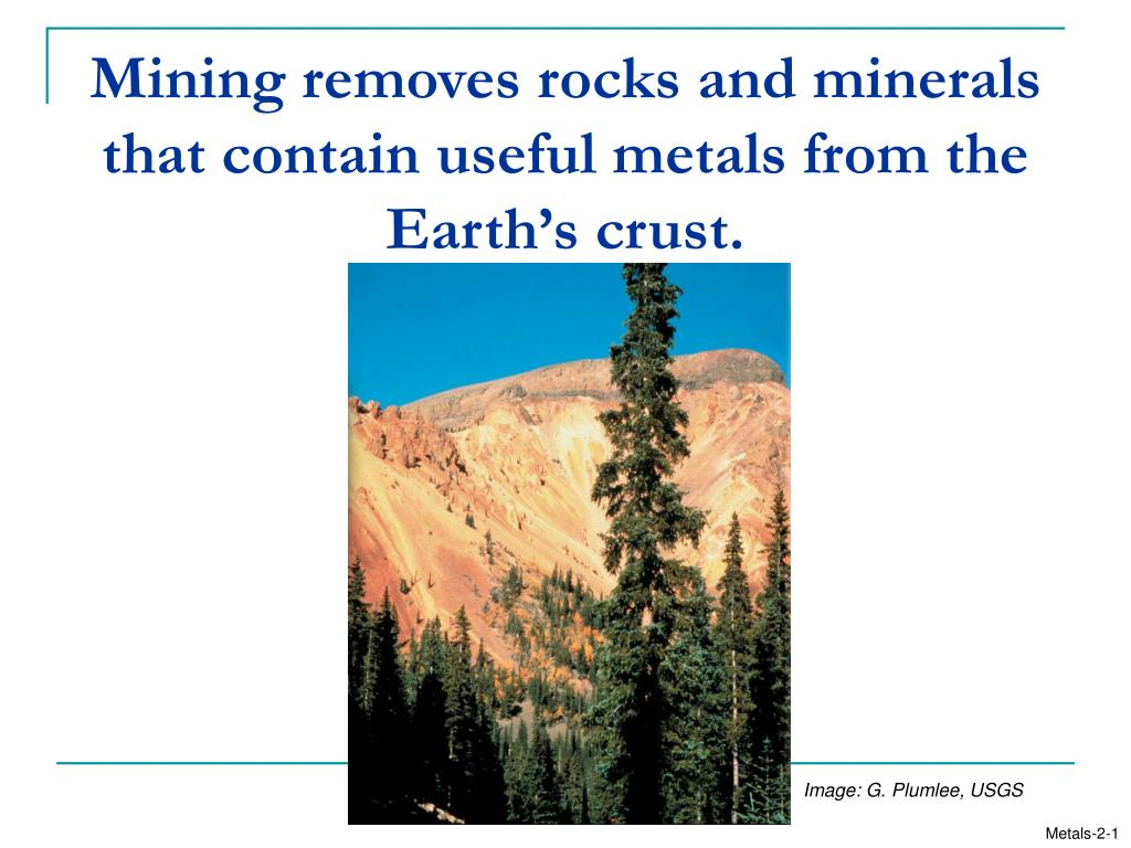 mining removes rocks and minerals that contain useful metals from the earth s crust l.
