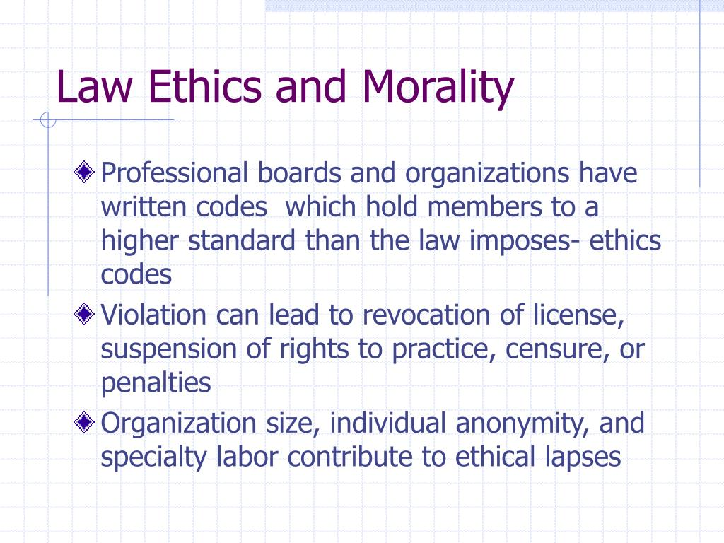 law ethics and morality l.