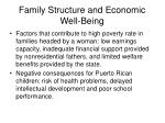 family structure and economic well being5