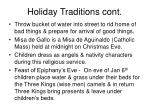 holiday traditions cont