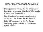 other recreational activities
