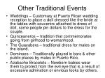 other traditional events