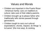 values and morals11