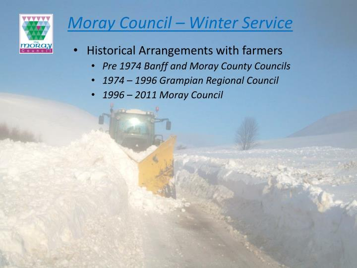 Moray council winter service