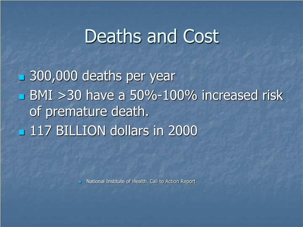 Deaths and Cost